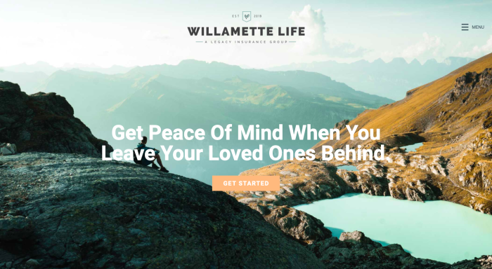 Willamette Life Insurance website home page