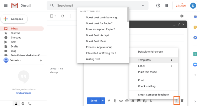 gmail templates