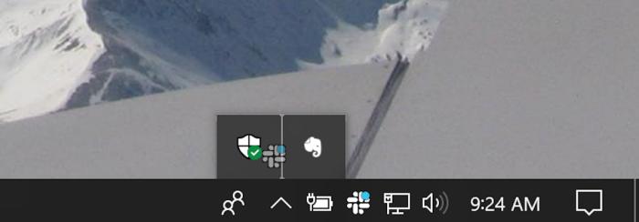 Hide Slack icon Windows