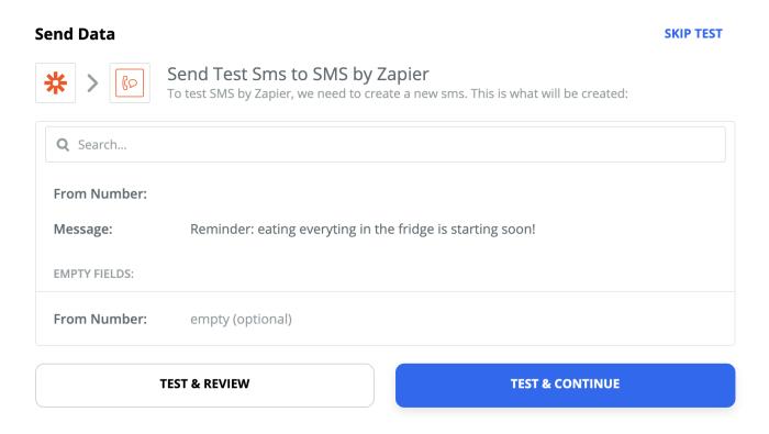 Prueba de SMS