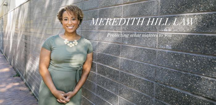A screenshot from Meredith Hill's website