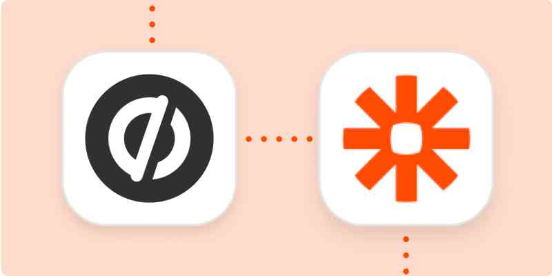 Unbounce and Zapier logos on an orange background.