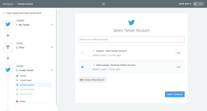 Multiple accounts Twitter