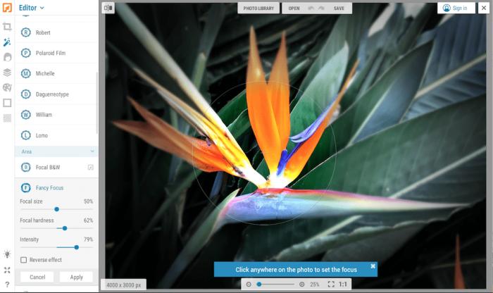 iPiccy photo editor screenshot