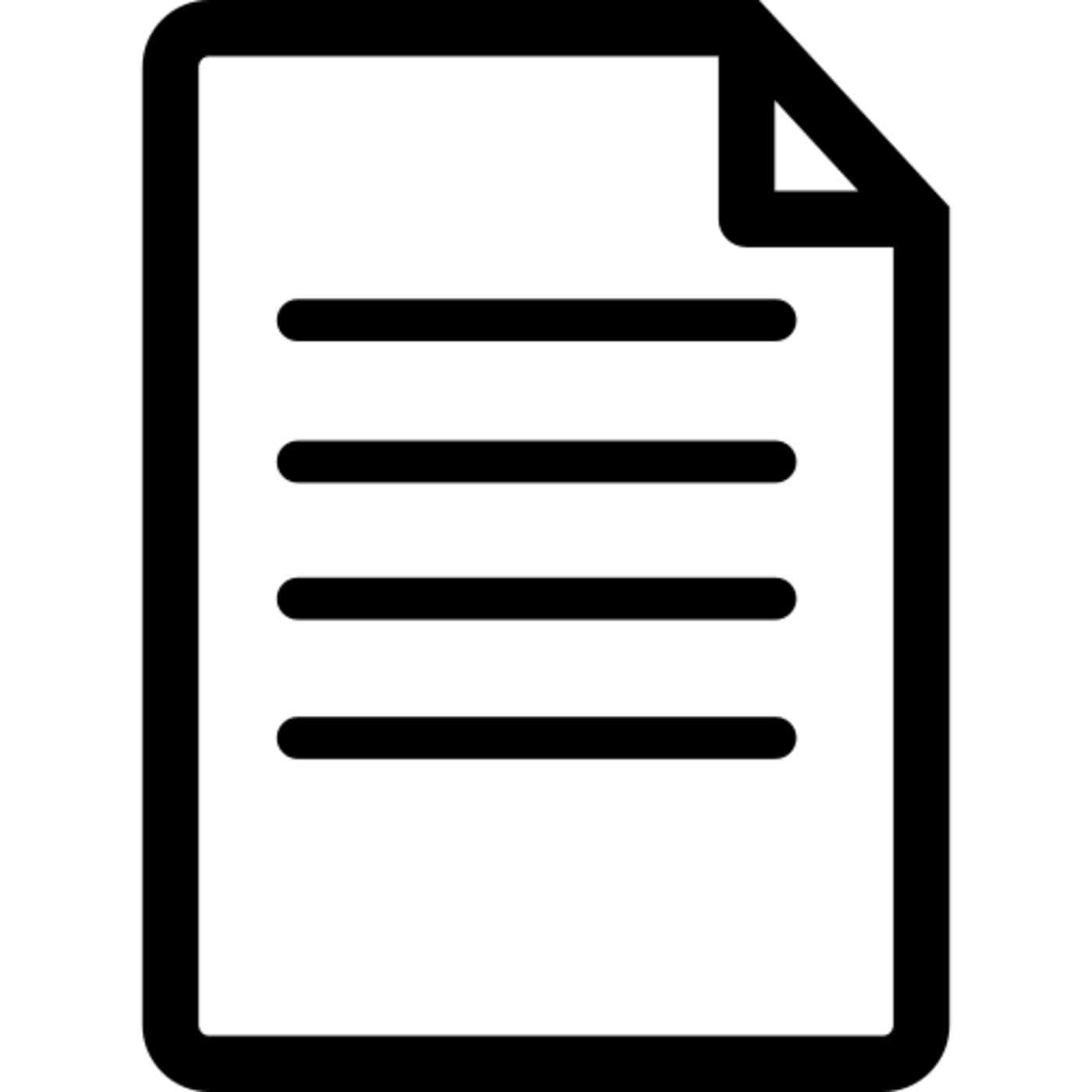 Icon of a document