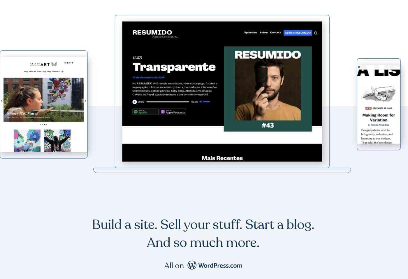 Setting up a website at WordPress.com