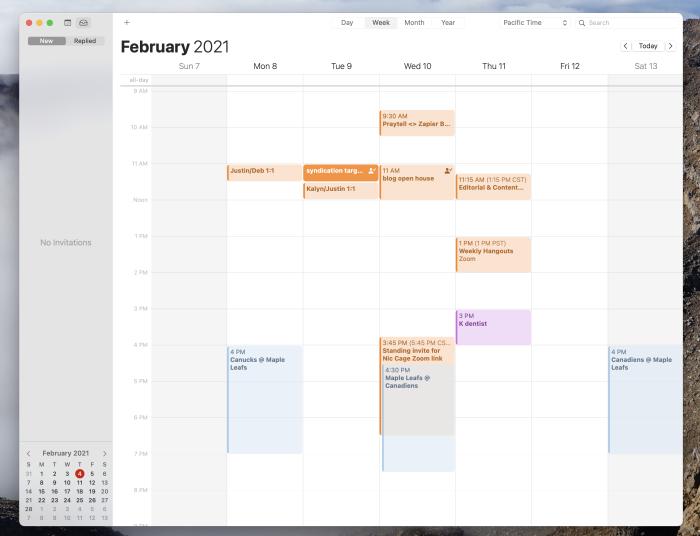 macOS Calendar screenshot