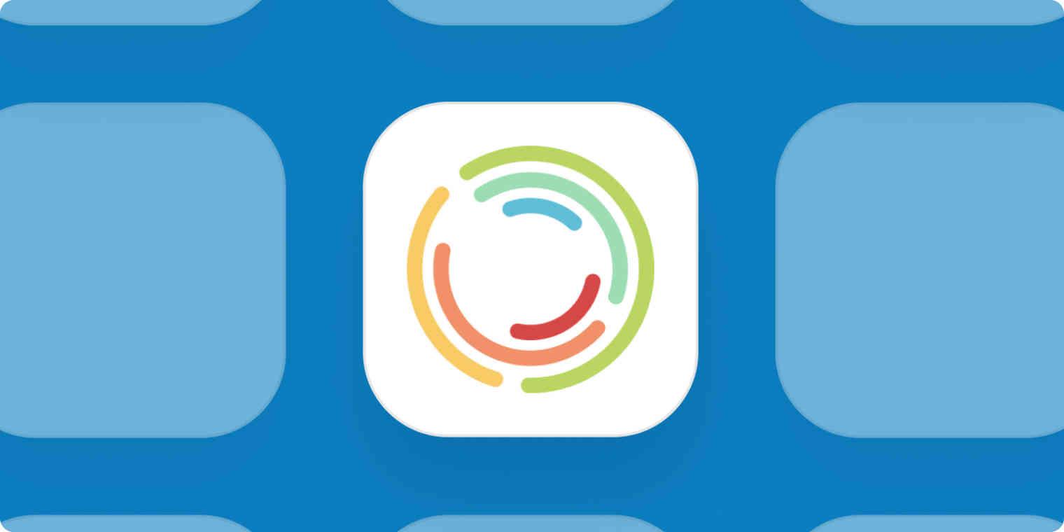 Senta app logo on a blue background.