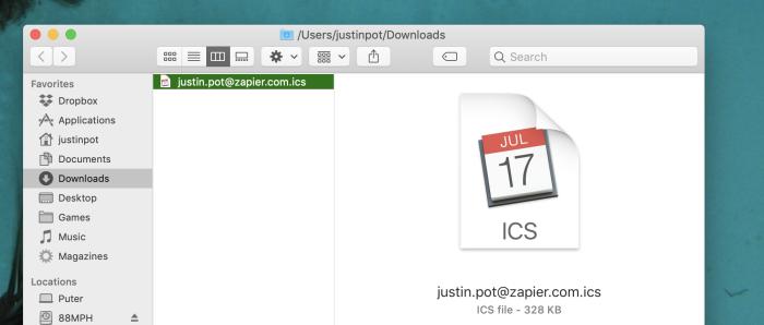 Calendario exportado a Google Calendar
