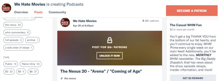 We Hate Movies on Patreon