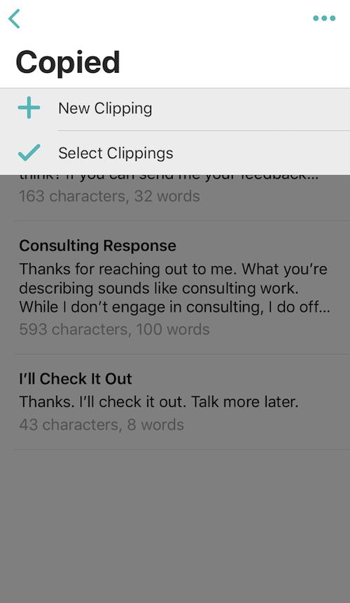 Copied app for iPhone