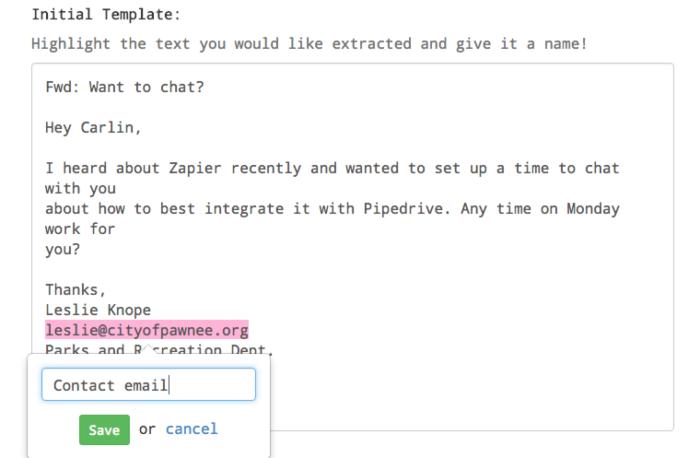 Zapier Email Parser