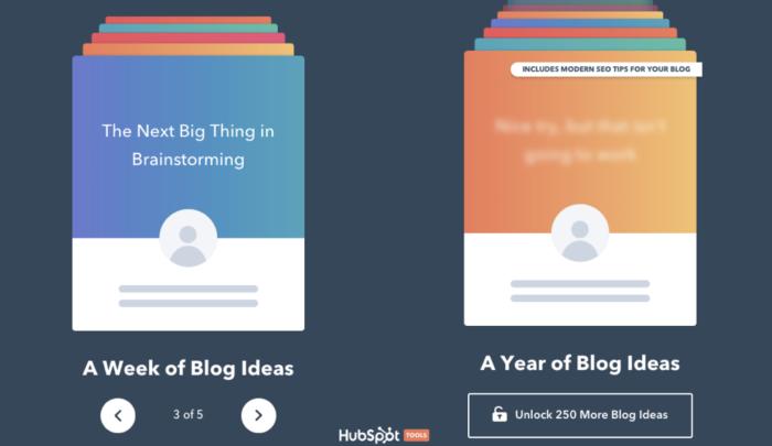 HubSpot Blog Ideas Generator screenshot