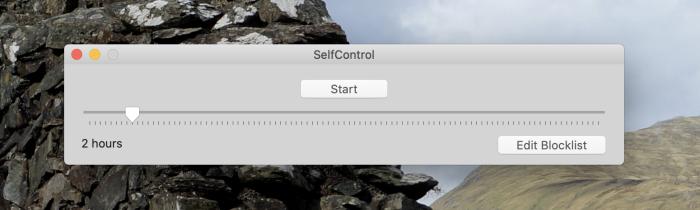 SelfControl para Mac captura de pantalla