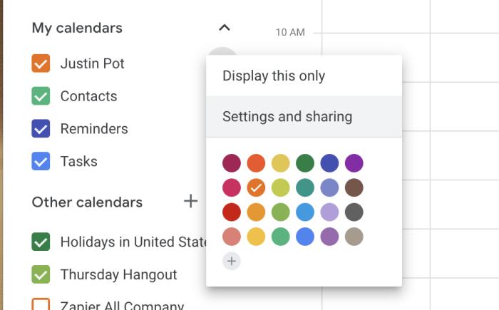 Compartir configuraciones y opciones para un Calendario de Google