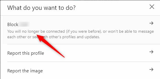 Select Block User