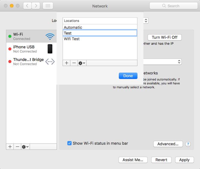 network location