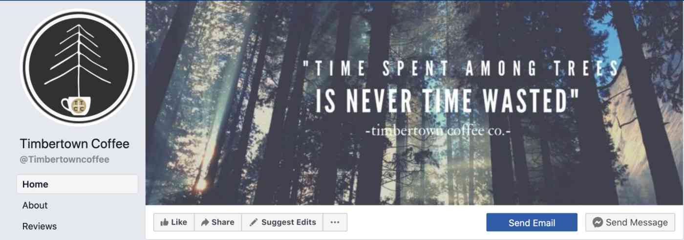 Timbertown's Facebook page header