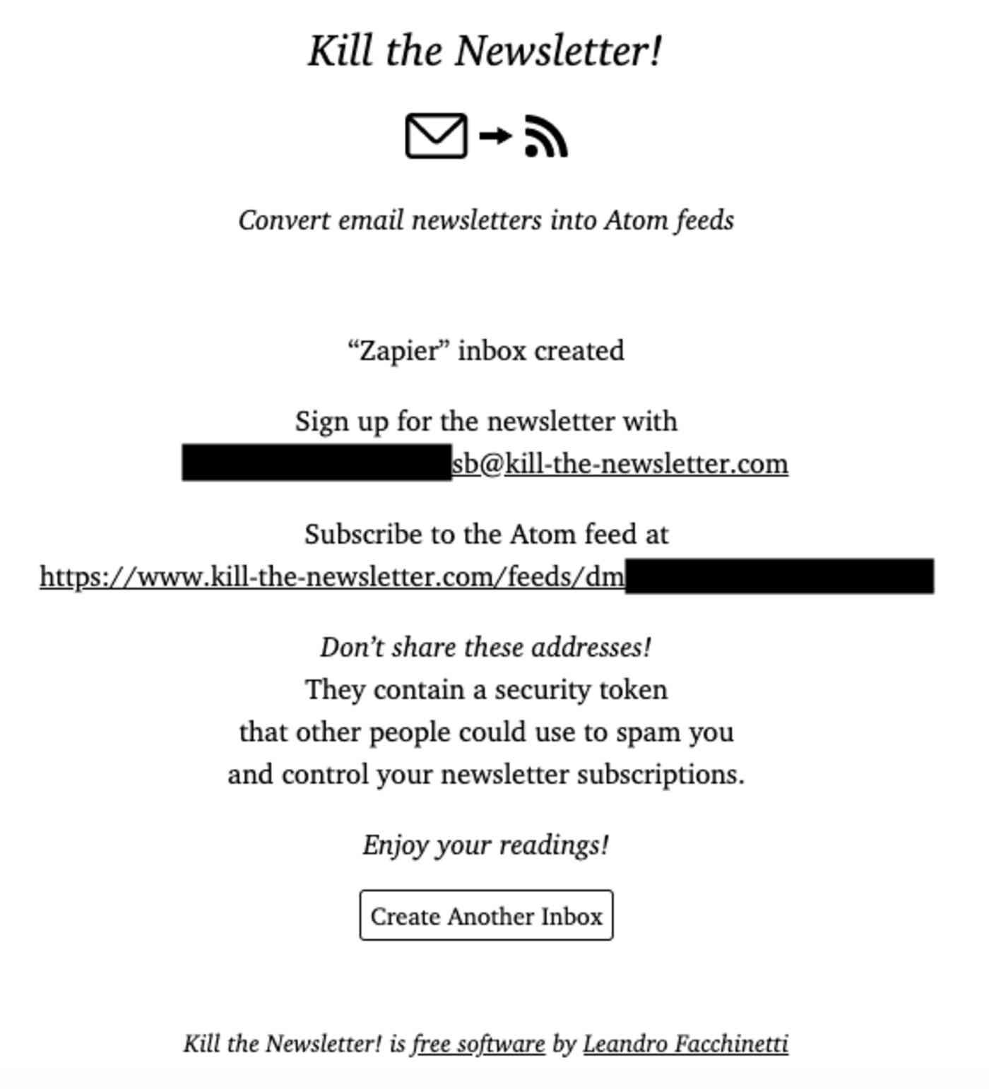 Kill the Newsletter