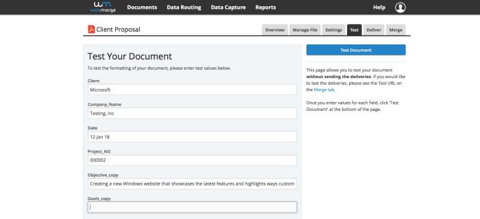 WebMerge Screenshot