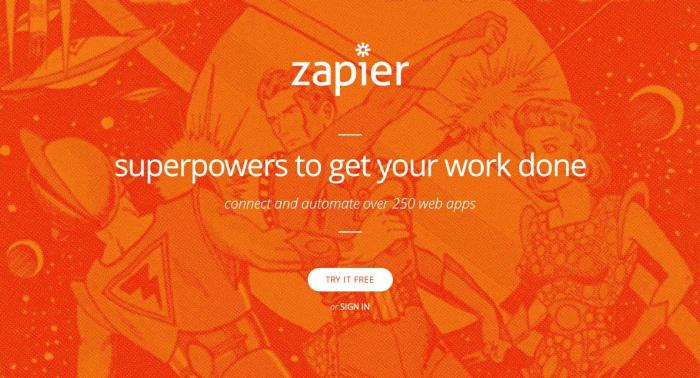 Zapier is an app automation platform that lets you connect over 750 business applications—without any coding required.