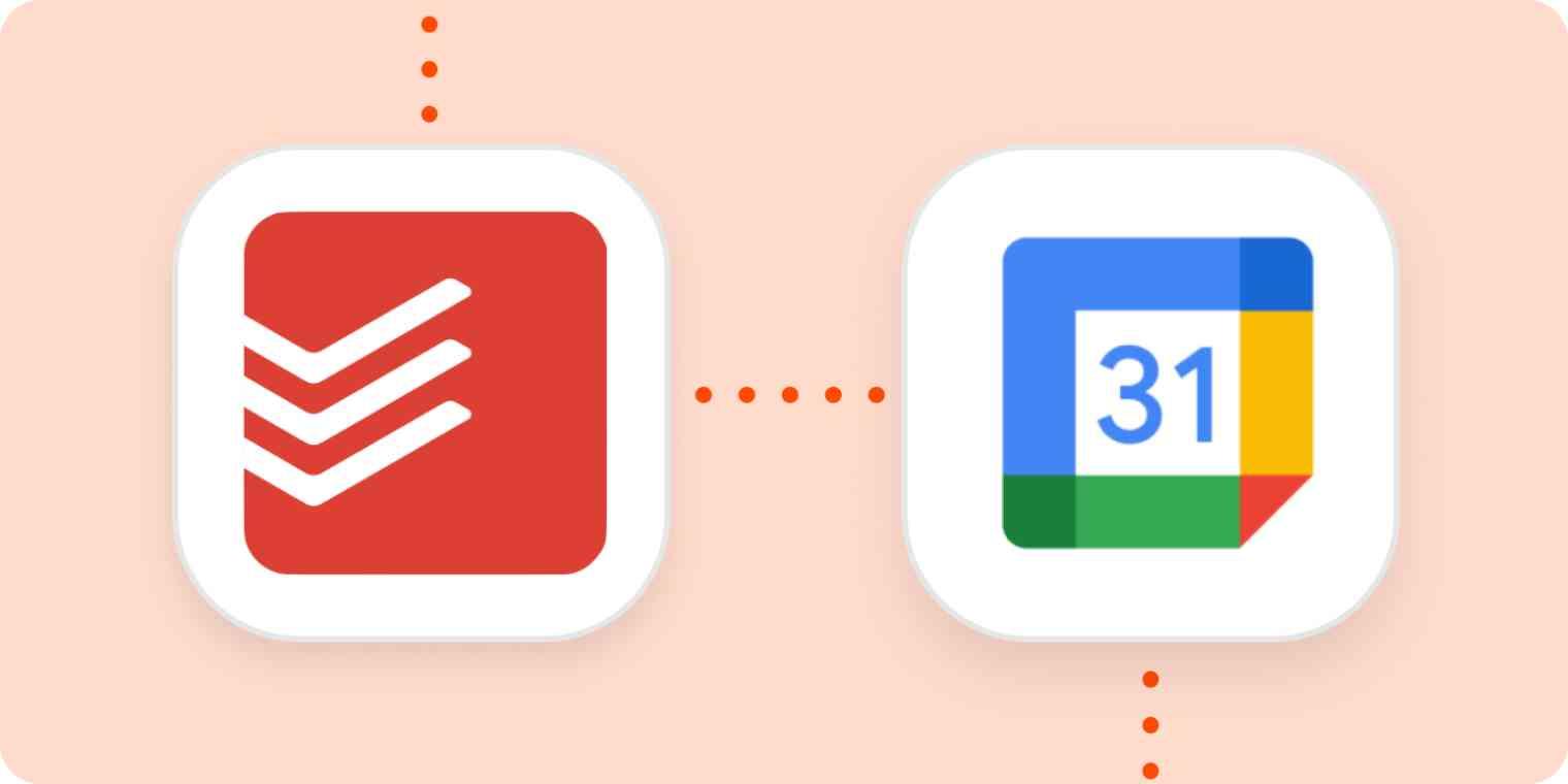 The Todoist and Google Calendar logos