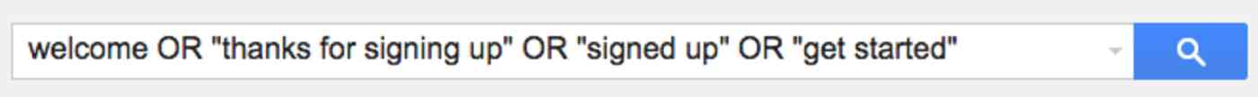 search your inbox