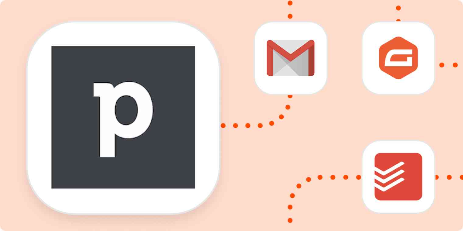The logos for Pipedrive, Gmail, Gravity Forms, and Todoist.
