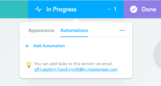 Add automations button