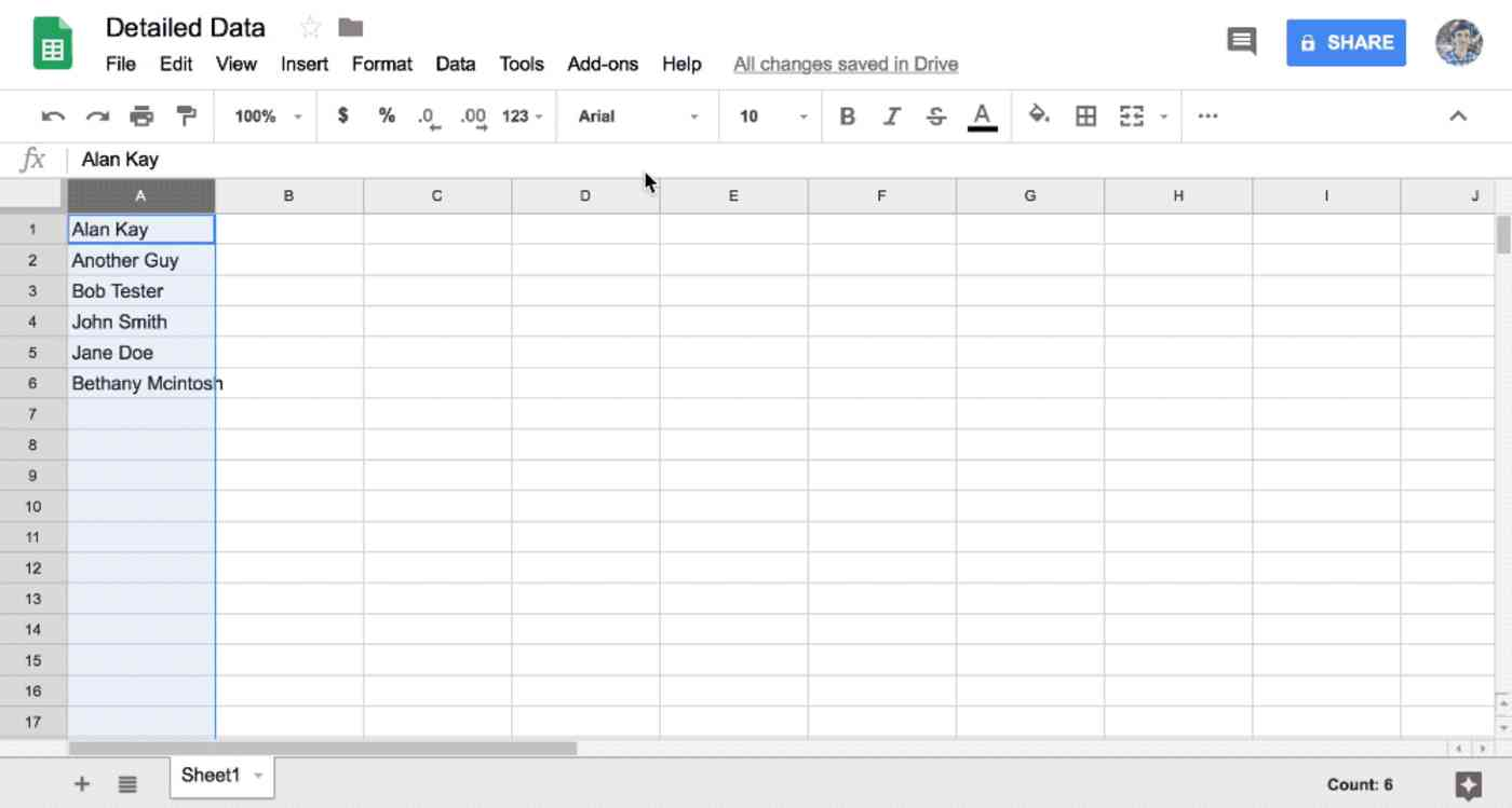 Google Sheets add custom shortcut