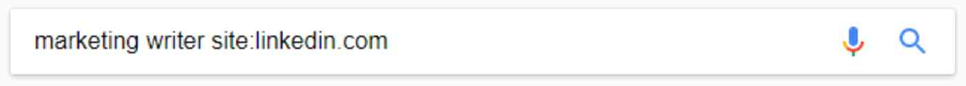 Google search for marketing writer site:linkedin.com