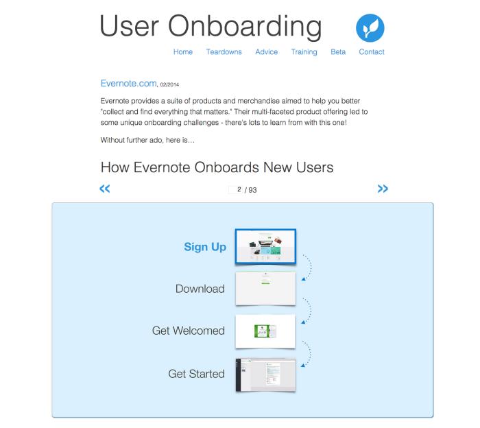 Evernote onboarding teardown