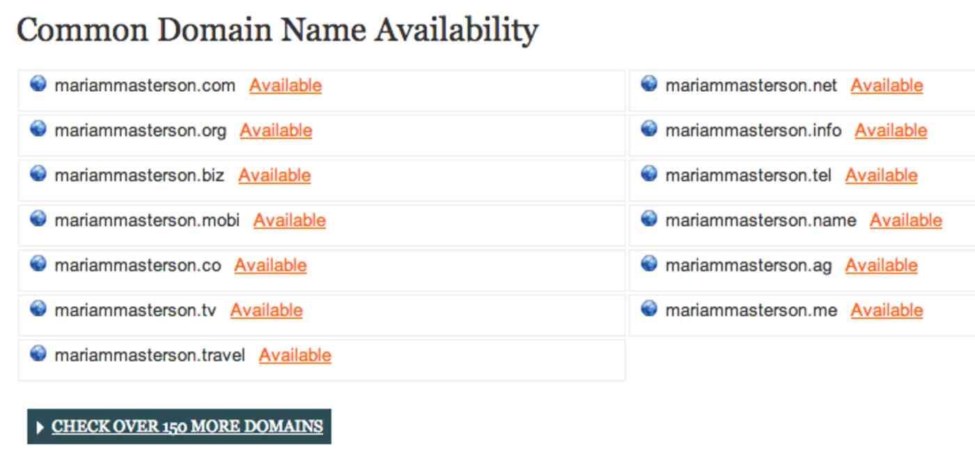 KnowEm domains