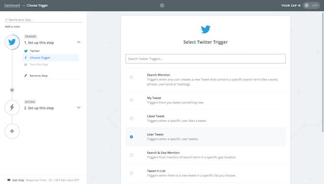 Crea un feed RSS de Twitter en Zapier