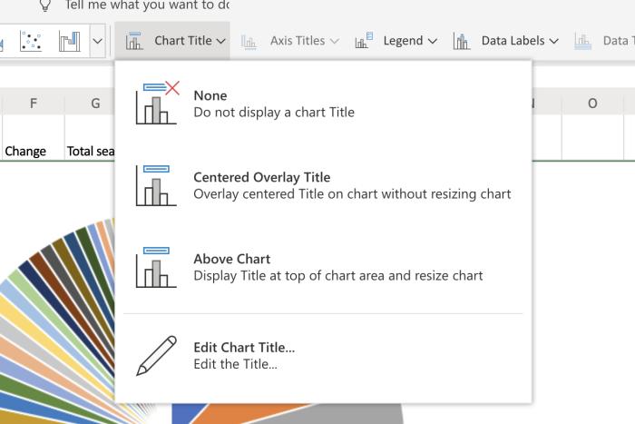 Cambiar el nombre del gráfico en Excel Online