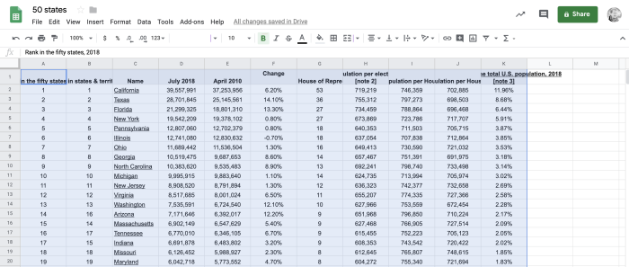Google Sheets select cells