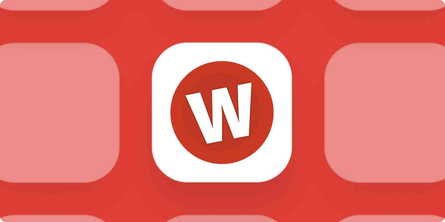 Wufoo app logo on a red background