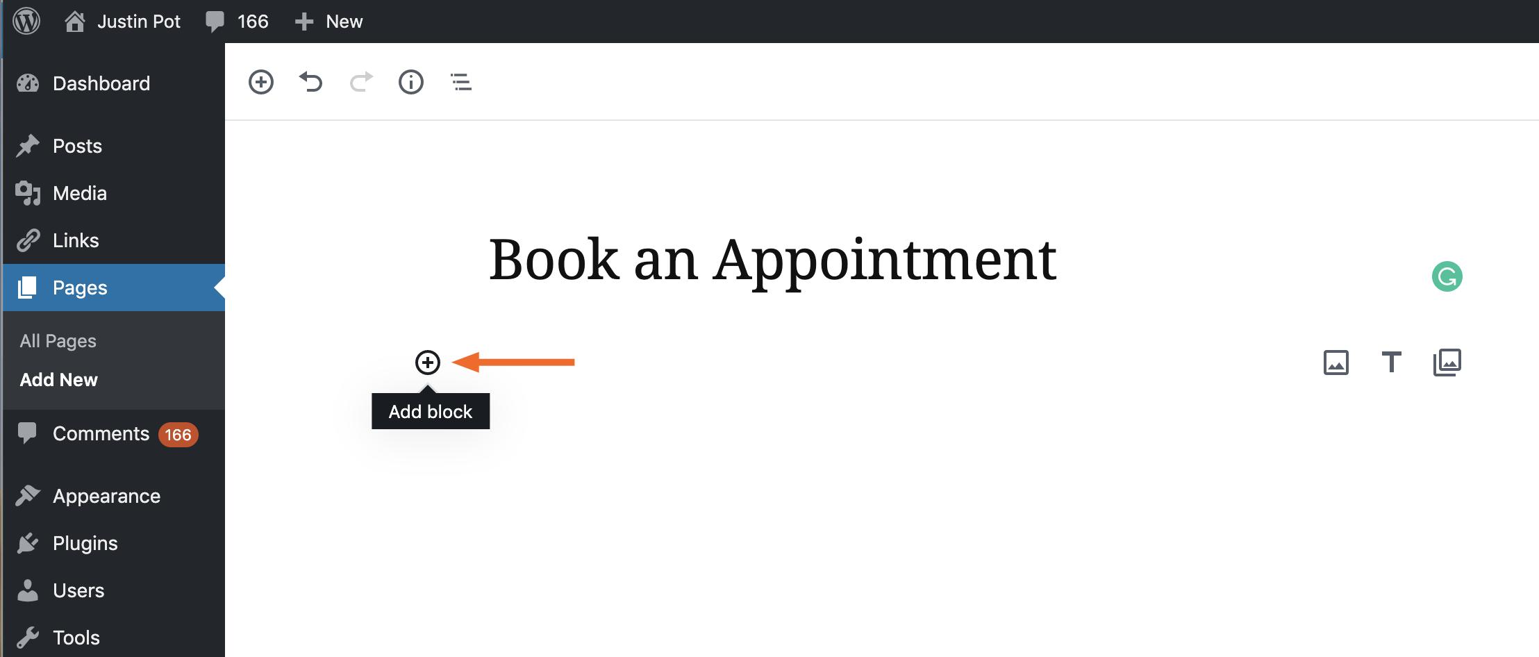 WordPress new block