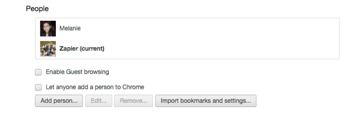 Chrome browser people