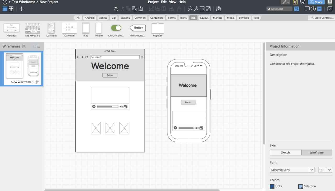 Balsamiq interface
