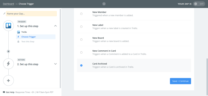 Find archived cards from Trello