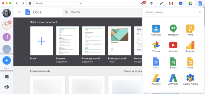 managing Google apps in Shift