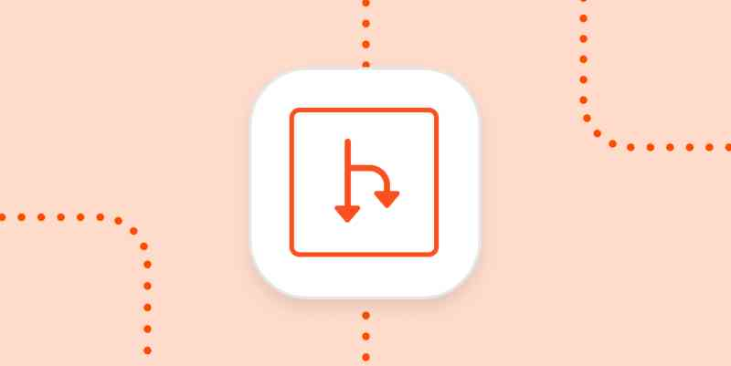 The Zapier Paths logo in a white square on an orange background