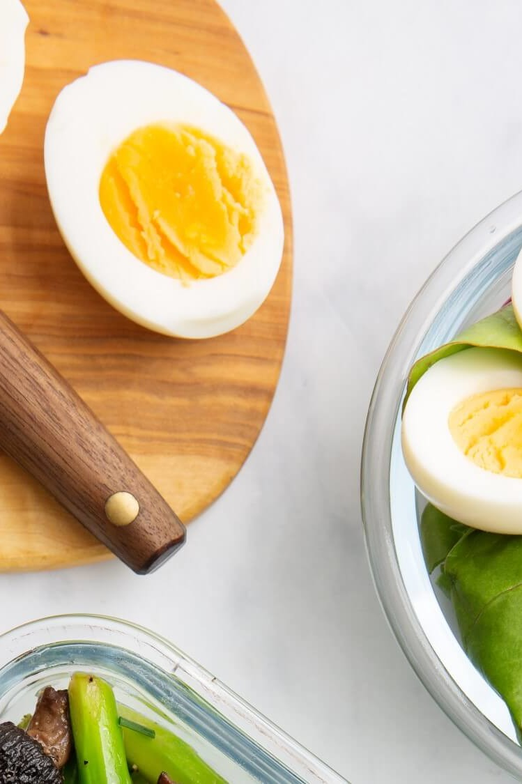 Perfect hard-boiled eggs start with farm-fresh organic eggs, simmered in shell for 12 minutes, then carefully transferred to an ice bath, for easier peeling. | peteandgerrys.com