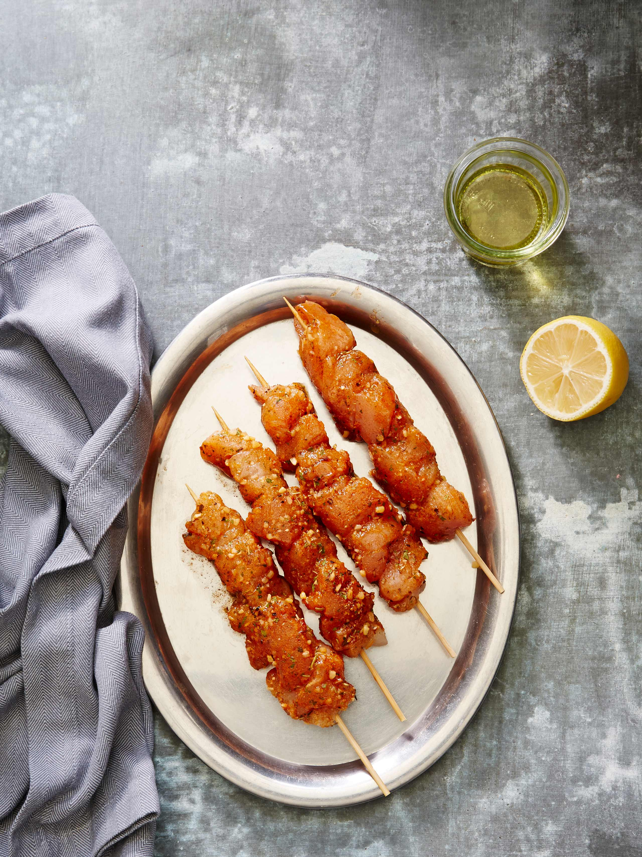 Chicken Lemon Pepper Skewer