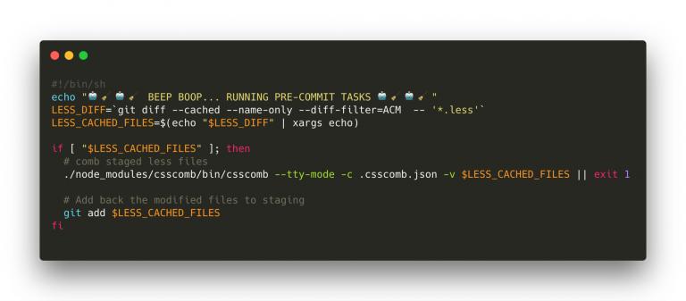 Csscomb coding example