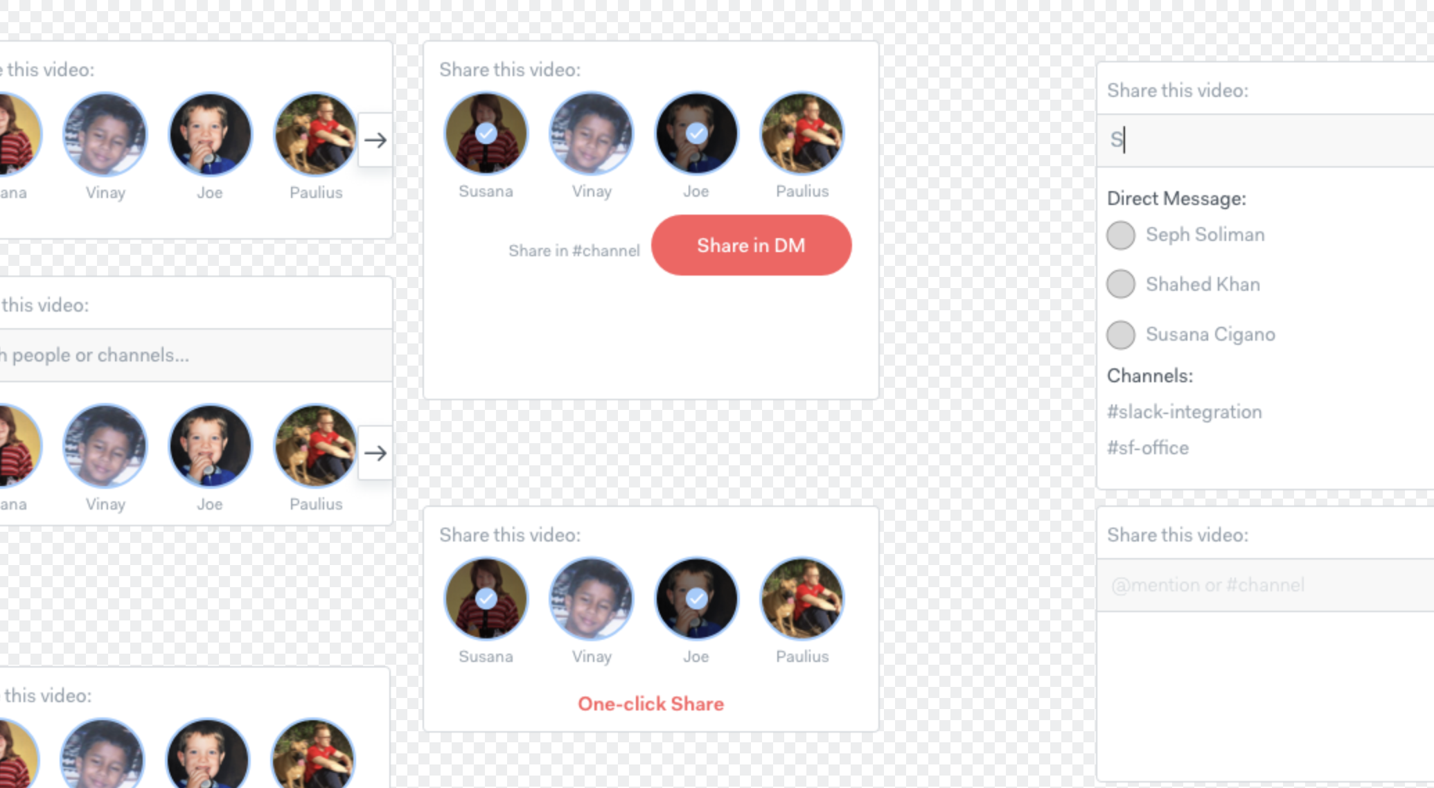 Video sharing screenshot