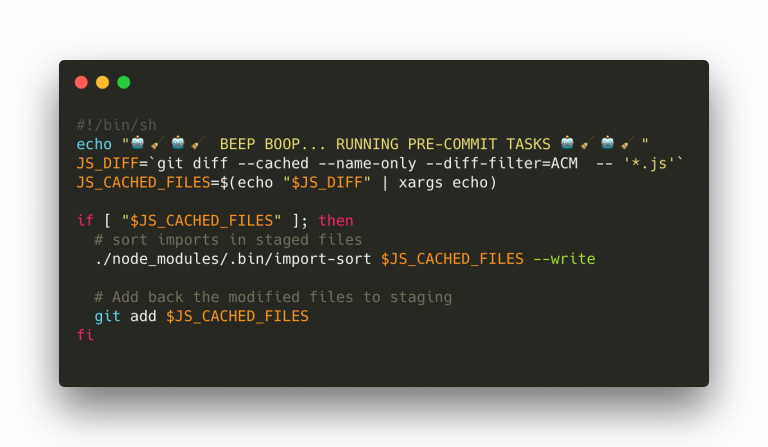 Import-sort coding example