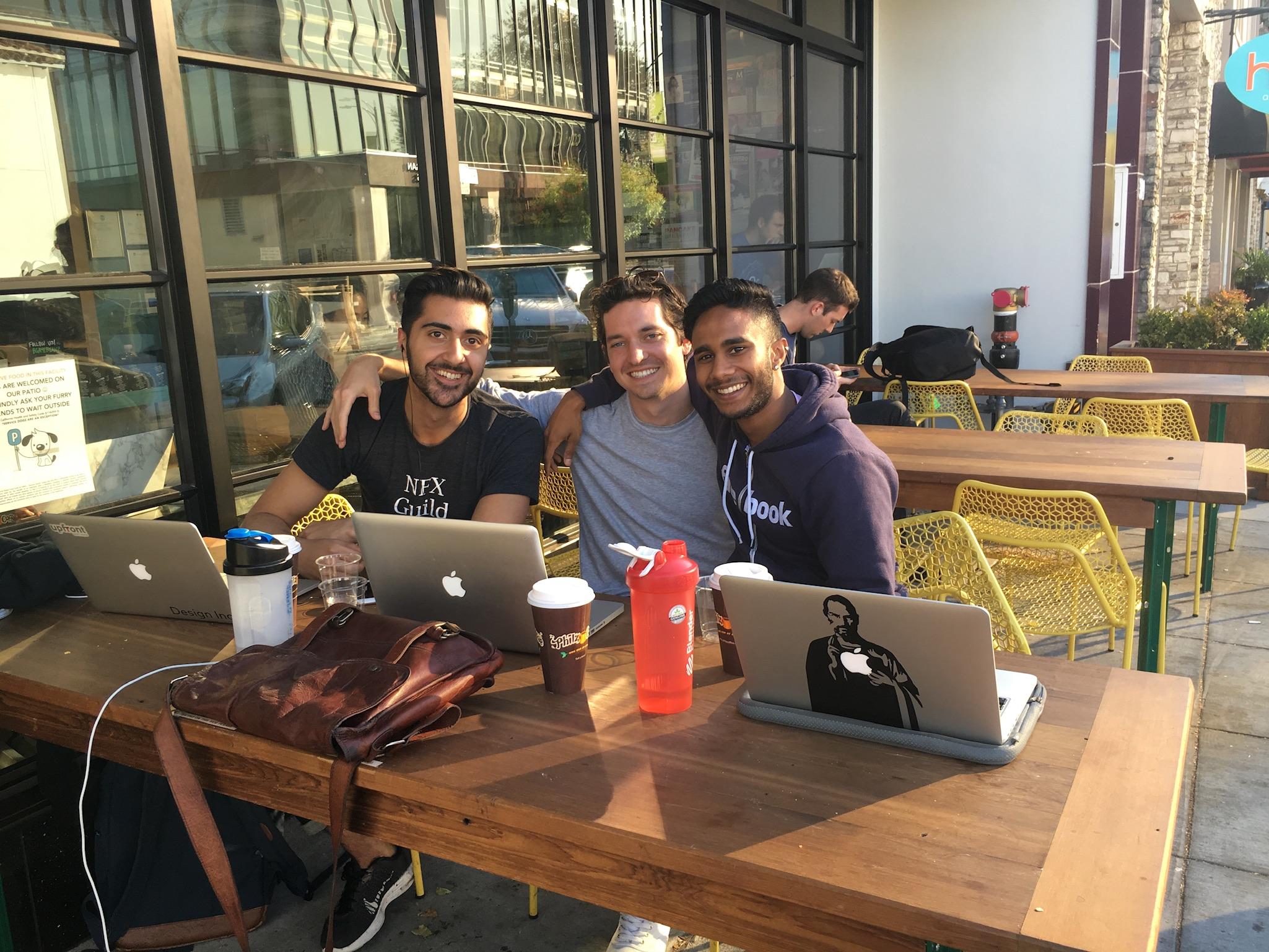 Joe, Vinay and Shahed early Loom