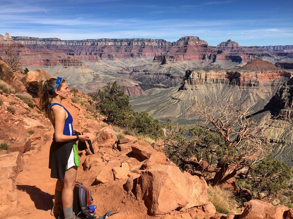 Liz hiking in the Grand Canyon